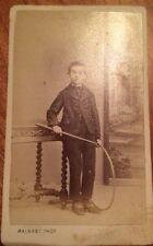 Photographie D' Un Enfant Avec Cerceau A Carcassonne Vers 1870