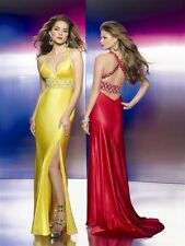 NWT FLAUNT by MORI LEE $398 YELLOW Evening Gown 2