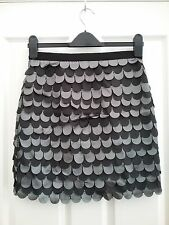 Topshop womens Decorated Straight Mini Skirt Size 10 Length 18 inches BNWT