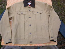 FILSON 10075 Dry Finish Tin Cloth Wool Lined Ranch Jacket 40 Tall - Extra Long
