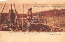 Cartolina - Postcard - Trezzo sull'Adda - Impianto Idraulico - Interno Cantiere