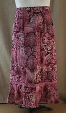 Sag Harbor, Size 12, Maroon Multi Floral Skirt, New with Tags