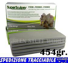 Stucco Super Sculpey Grigio FIRM 454gr. Argilla professionale modellare Scultura