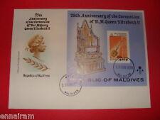 Queen Elizabeth II Silver Jubilee FDC 25 Coronation Maldives 1978 #2