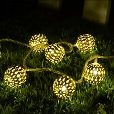 Ball Shape Warm White 17-LED String Lamp Lights For Christmas Diwali Decoration