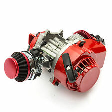 Mini Pocket Minimoto Bike Air Cooled 49cc RACING ENGINE Red ATV Dirt Dirtbike GP