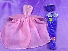 Barbie Ariel Little Mermaid Pink Princess Dress Purple Mermaid Skirt Top