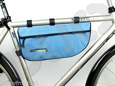 Bicycle Bike Cycle Cycling FRAME BAG Pouch Case Pannier Go!Travel - NIB - L.Blue