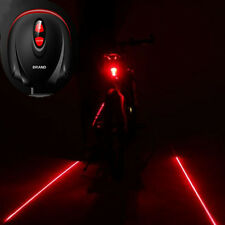 Cycling Bike Bicycle 2 Laser Projector Red Lamps Beam&3 LED Rear Tail Lights Hot