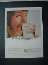 1964 Canada Dry Ginger Ale tickles your nose... Vintage Print Ad 11441