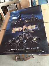HARRY POTTER AND THE SORCERER'S STONE (2001) ORIGINAL MOVIE POSTER  ROLLED