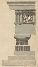 A4017 Esempio di stile dorico - Incisione - Stampa Antica del 1888