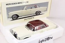 AUTOart 1:18 Mercedes-Benz 280 SE Coupe 1968(W111) -White/Red roof & interior