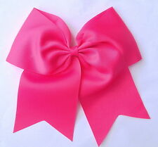 Large Double Bow Plain Cheerleader Hair Bow Bobble Elastic School Girl