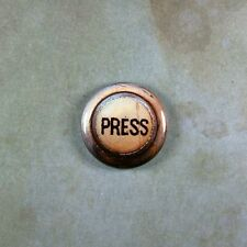 "Vintage Style Steampunk Press Button Fridge Magnet  1""  Elevator Rusted Antiqued"