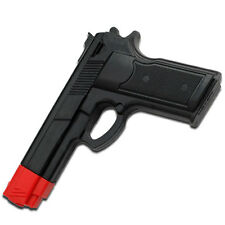 "7"" Black Rubber Training Gun Hand Pistol Police Dummy Non Firing Look Feel REAL"