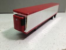 HO 1/87 TNS # 164 - 53' Reefer Trailer Split Axle - Chrome w/Red Trim