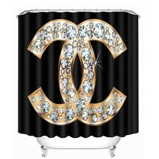 Black with Diamonds Shower Curtain Bathroom Decor