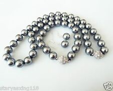 wholesale 10mm grey natural shell pearl fashion bracelet earring necklace set