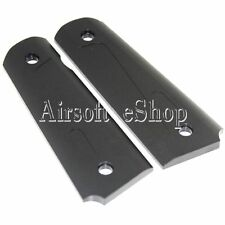 Airsoft Army Force CNC Aluminum Pistol Grip Cover For TM M1911/MEU Black