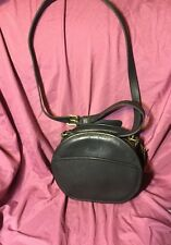 Vintage COACH Chester Bag #9901 British BLACK RARE Leather Crossbody Round