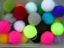 job lot DK wool ball oddments 250+grams ideal for crafts