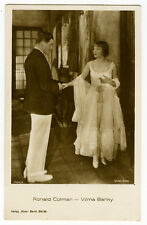 1920's Vintage Movie Star RONALD COLMAN Vilma Banky antique photo postcard