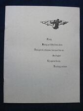 Original Souvenir Program for BIRDY - MATTHEW MODINE, NICOLAS CAGE Film