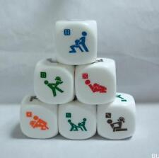 BU AU 1Pcs x 6 Sides Sex Dice Game 20mm PVC Toy Fun Bachelor Party Adult  Gift