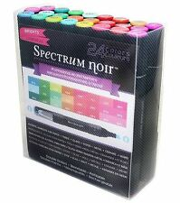 Spectrum Noir Next Generation Double Ended Alcohol Ink Markers,Brights 24 pc set