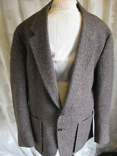 Vintage Lanvin Studio Speckled Tweed Jacket Wool Mens Size Med Tall 1980's