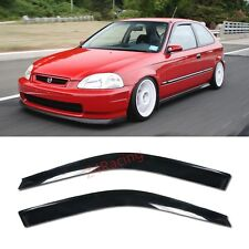 For 96-00 Honda Civic 3DR EM1 SI JDM style Rain Guard Coupe Side Window Visors