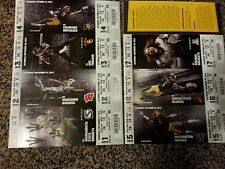 2013 ARIZONA STATE SUN DEVIL COLLEGE FOOTBALL SEASON TICKET STRIP SHEET STUB SET