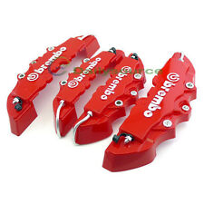 4pcs 3D Red Brembo Style Car Universal Disc Brake Caliper Covers Front & Rear