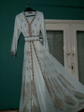 Gorgeous Kaftan, Caftan, Dress, Gown, Maxi Dress, Abaya In White and Gold