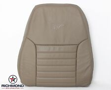 2004 Ford Mustang GT V8 -Driver Side LEAN BACK Perforated Leather Seat Cover Tan