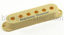 Seymour Duncan Pickup Cover for Strat Single Coil Pickups, Cream with Logo, NEW!