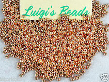 11/0 TOHO Glass Seed Beads #PF551- Permanent Finish Galvanized Rose Gold 15g