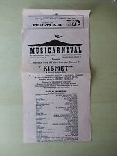 July 1958 - Thistledown Race Track Playbill - Kismet - Tom Batten