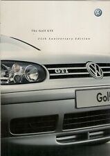 Volkswagen Golf GTi 25th Anniversary Mk4 Limited Edition 2002 UK Market Brochure