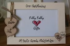 Personalised Photo Frame by Filly Folly! Christening Gift! 6x4''