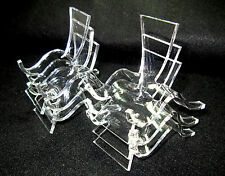 Set of 6 Medium, Clear Acrylic Plastic Display Stands               ::