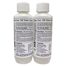 OptiCast 100 Water Clear Polyurethane Liquid Plastic Casting Resin 500g Kit