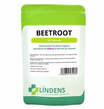 Super Strength BEETROOT EXTRACT 3500mg **50 Capsules** Lindens UK GMP Certified