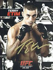 Terry ETIM Signed Autograph UFC Fight Photo Card AFTAL COA