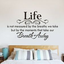 Life Quotes Wall Art Vinyl Decal Home Room Decor Motto Poem Saying Wall sticker