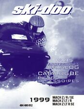 Ski-Doo parts manual catalog book 1999 MACH Z, 1999 MACH Z R & 1999 MACH Z LT