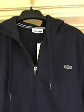 Lacoste Sport Full Zip Brushed Fleece Hooded Sweatshirt Sweat Jacket Men 6/XL US