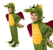Childrens Green Dragon Fancy Dress Costume Monster Halloween Outfit Kids L