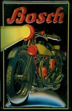 Bosch Electrics Motorcycle Classic Vintage Garage Medium 3D Metal Embossed Sign